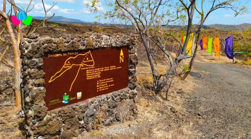 Entrada al nuevo atractivo natural en el Parque Nacional Volcán Masaya, Sendero Las Pencas.
