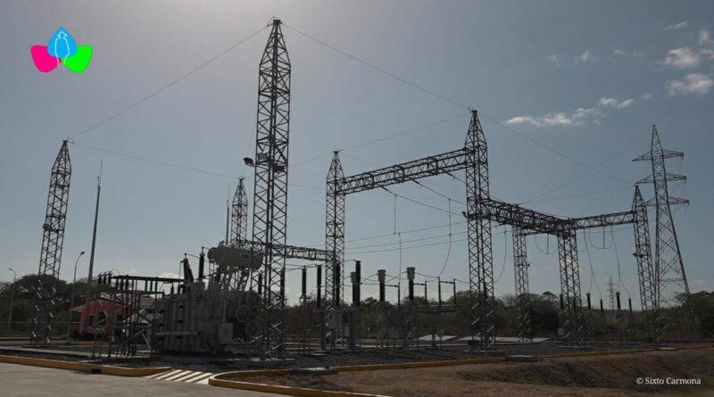 La nueva subestación eléctrica de San Juan del Sur, inaugurada este 31 de marzo, por el Gobierno de Nicaragua.