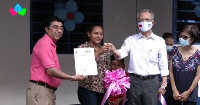 Familias del barrio Santo Domingo reciben de parte de las Alcaldía de Managua y Taiwán viviendas digna y seguras.