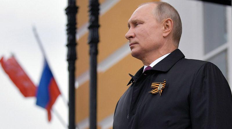 Presidente de la Federación de Rusia, Vladimir Putin, durante la celebración del 75 aniversario del triunfo sobre el nazismo