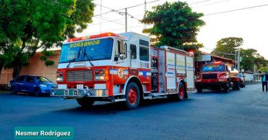 Camiones de bomberos para la nueva estación en Tisma, Masaya