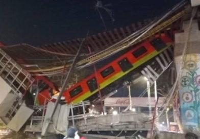 Tren de la ciudad de México durante el accidente en el Metro