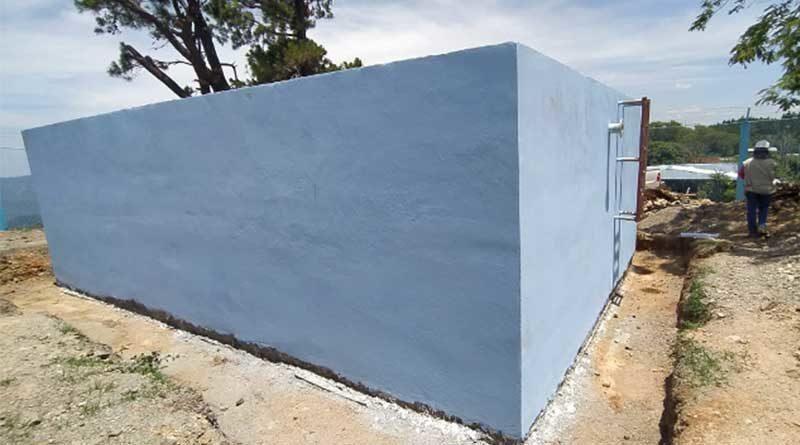 Uno de los pozos de agua potable para el mejoramiento del sistema en Cusmapa
