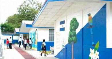 El nuevo Centro Educativo Sotero de Jesús Reyes Romero del Distrito 3 de Managua.
