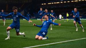 Mason Mount del Chelsea durante la eliminacion del Real Madrid en la semifinal de la UEFA Champions League 2021.