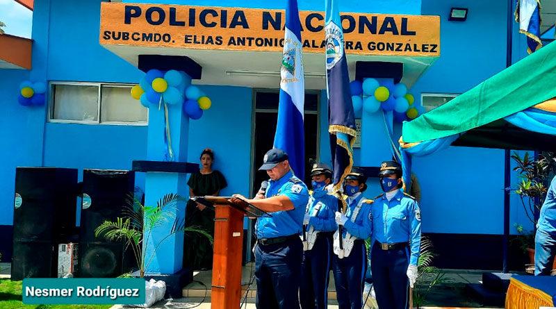 Fachada de la Comisaría de la Mujer en San Nicolás, Estelí