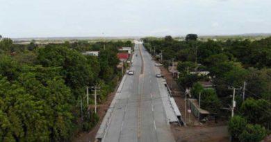 Fotografía del Nuevo tramo de carretera Sábana Grande - El Pique