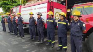 Cuerpo de bomberos que fue enviado a la estación que será inaugurada próximamente en Prinzapolka