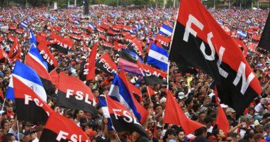 Celebración del 40/19 en la Plaza de la Fe en Managua