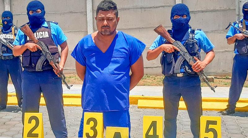 Delincuente Bismarck Alí Carvajal Zamora, capturado por delito de parricidio y violación agravada