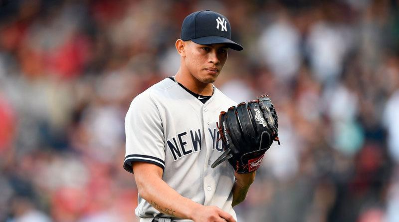 Jonathan Loáisiga durante un juego ante los Yankees de Nueva York.