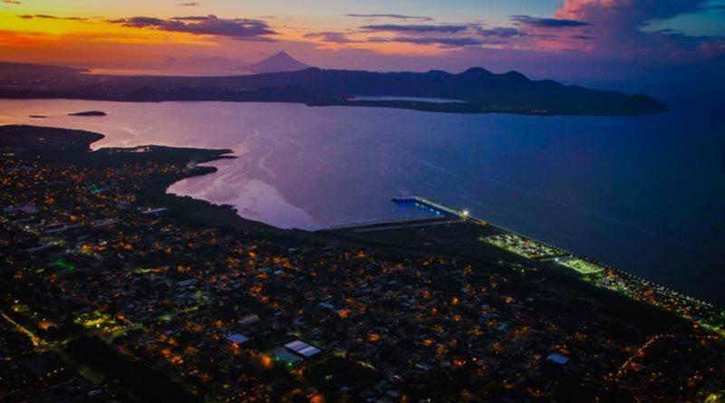 Foto aerea de Managua, Nicaragua
