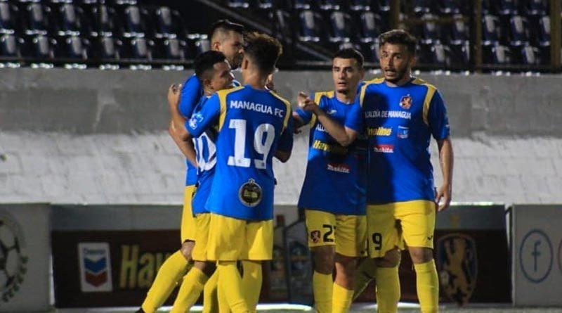 Jugadores del Managua FC destrozó 3 goles a 1 al Real Estelí en el partido de ida del Torneo Clausura de Liga primera.