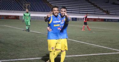 Jugadores del Managua FC celebrando su clasificación a la semifinales del Torneo Clausura de Liga Primera, igual que el Walter Ferretti.