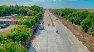 Tramo de carretera que une a Sabana Grande, la rotonda El Pique y el nuevo Puente de Villa Sol en Managua.