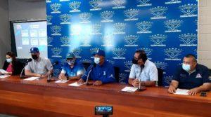 Conferencia de prensa de la Federación Nicaragüense de Béisbol (FENIBA) sobre la participación de Nicaragua en el torneo Preolímpico de las Américas.