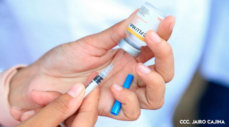 Vacuna contra la influenza aplicada por el Ministerio de Salud en Nicaragua