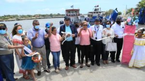 El Presidente Ejecutivo de EPN, Virgilio Silva durante la inauguración de rampas en Puerto San Jorge