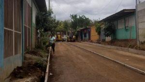 Calle que es construida por la Alcaldía de Managua en el barrio Marcos Somarriba