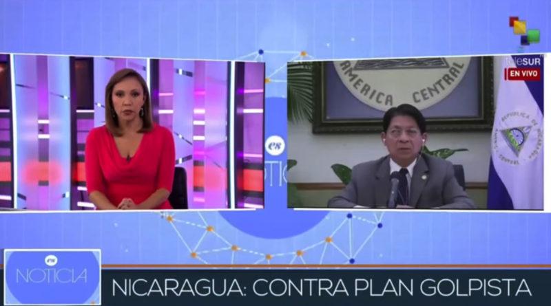 Entrevista del Canciller Denis Moncada en TeleSUR