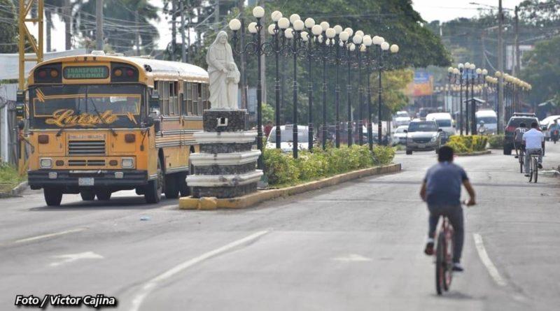 Una de las entradas al casco urbano del municipio de Chinandega
