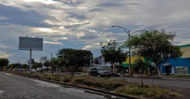 Cielo nublado de Managua en la Carretera Norte con probabilidad de lluvias por la tarde.