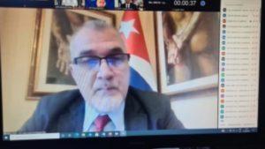 Embajador de Cuba, Compañero José Carlos Rodriguez Ruiz en reunión del PMA.