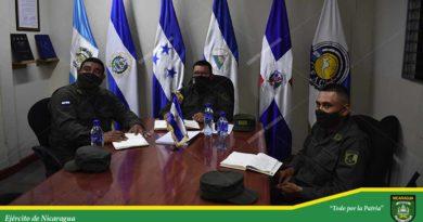 Autoridades del Ejército de Nicaragua durante una conferencia