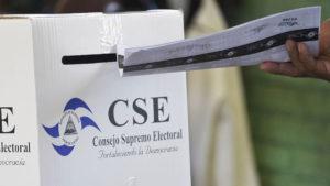 urna receptora de votas en Nicaragua