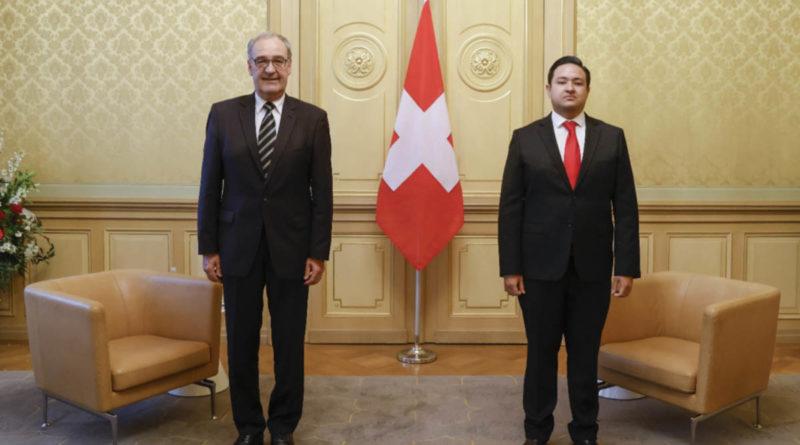 Embajador de Nicaragua presenta cartas credenciales ante presidente de la Confederación Suiza
