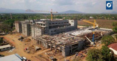 Vista aérea de la construcción del nuevo Hospital Escuela Oscar Danilo Rosales Argüello de León