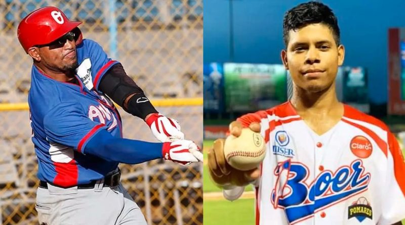 Jimmy González y Santos Jarquín, jugadores del Pomares 2021.