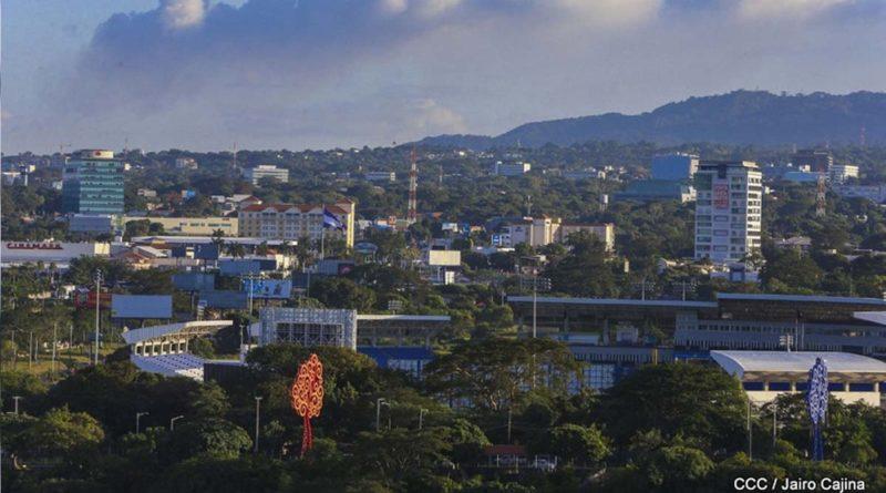 Managua vista desde la loma de Tiscapa