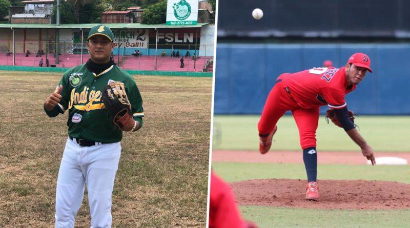 Jugadores de los Indígenas de Matagalpa y Los Dantos de Managua.