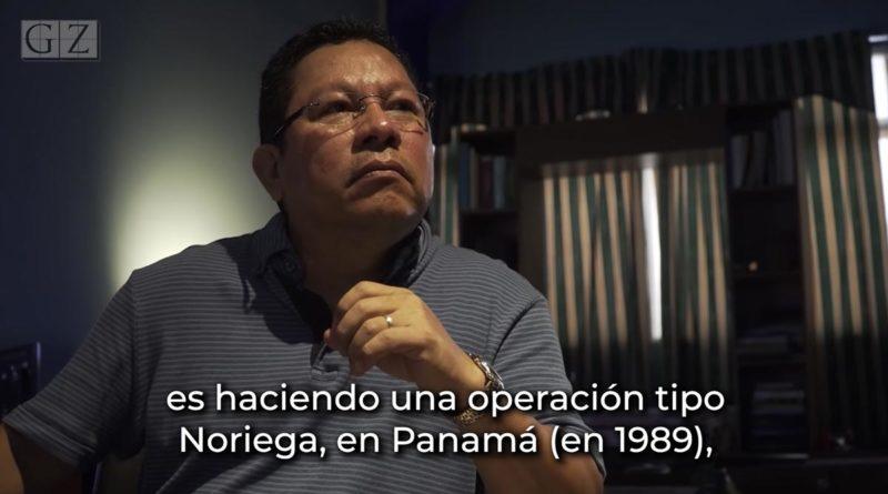 Miguel Mora, detenido por pedir intervención militar extranjera.