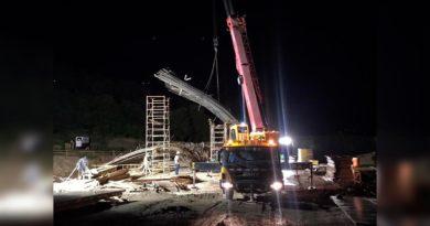 MTI informa de incidencia sobre la falla del sistema de apoyo de la pila N°2 construcción del Puente de Wiwili