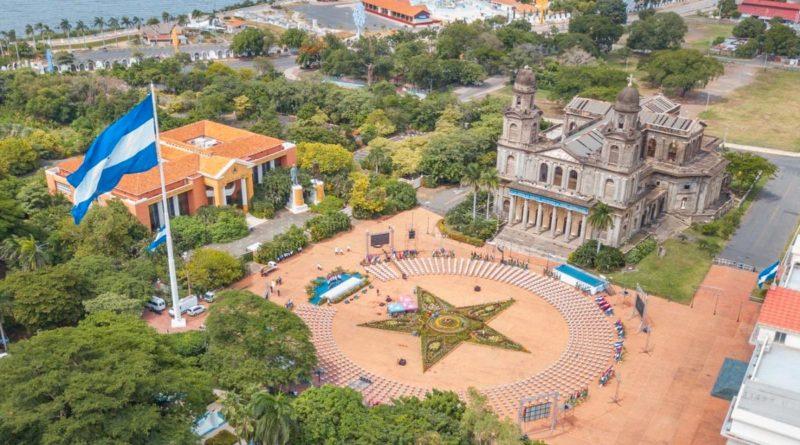 Plaza de la Revolución en Managua, Nicaragua, el 19 de julio de 2020.