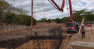 Avance de las obras de alcantarillado sanitario en Totogalpa