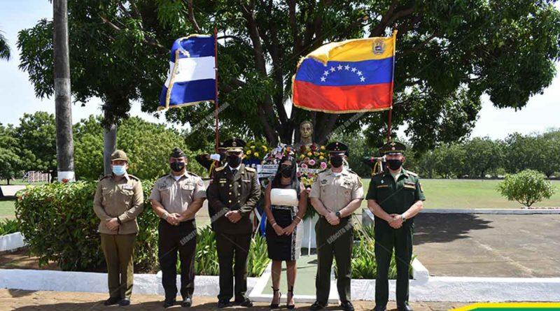 Autoridades del Ejército de Nicaragua durante la conmemoración