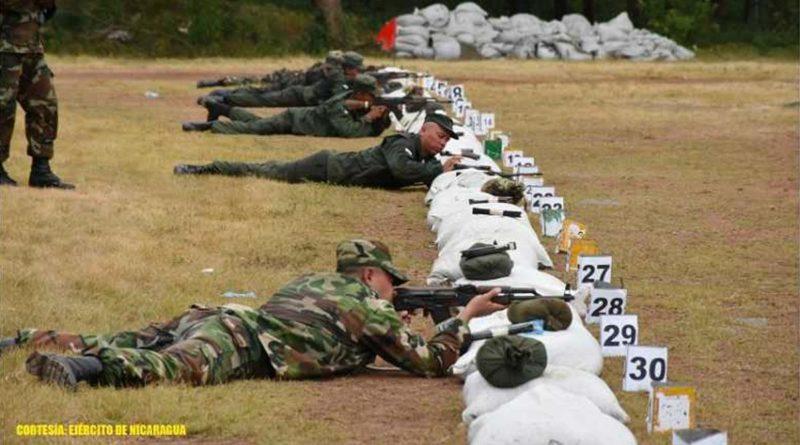 Ejército de Nicaragua informa sobre realización de ejercicio de tiro en el Polígono Nacional.