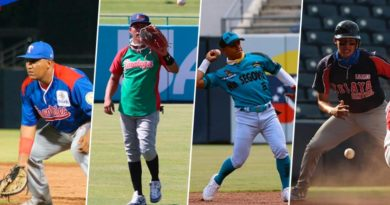 Jugadores de los Todos de Chontales, Brumas de Jinotega, Zelaya Central y Nva Segovia en el Pomares 2021.