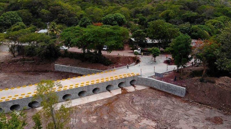 Nuevo puente vado de la ciudad de Pueblo Nuevo en el departamento de Estelí.