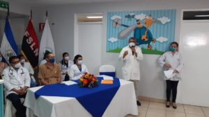 Inauguración de la sala de quimioterapia en el Hospital La Mascota