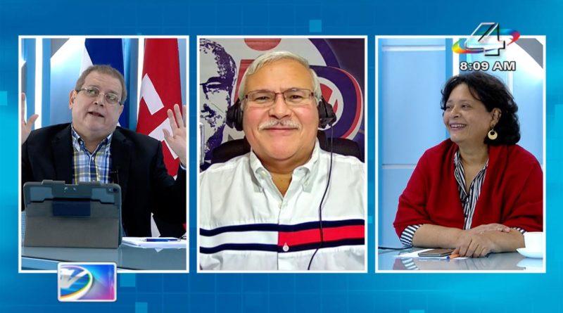 La periodista Tirsa Sáenz y el analista político Adolfo Pastran en la Revista en Vivo, este martes 29 de junio de 2021.