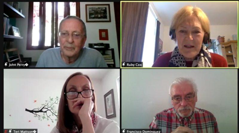 John Perry, articulista del London Review of Books, de Counterpounch y Fair, residente en Nicaragua; Nan McCurdy, de Nicaragua Network y Louise Richards, Coordinadora de NSCAG