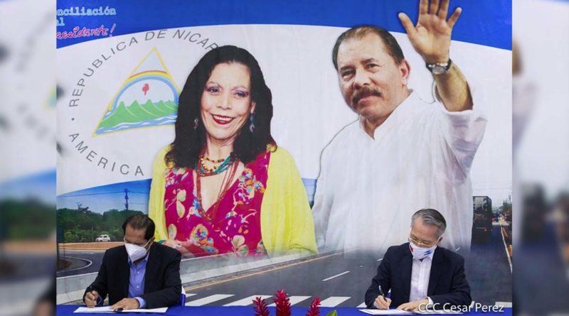 Firma de la donación realizada por Taiwán al MTI