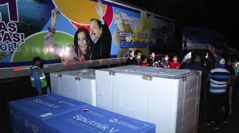 Vacunas Sputnik V que arribaron la noche de este martes 15 de junio a Nicaragua