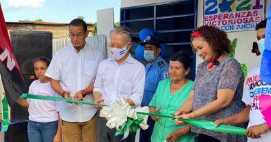 Inauguración de la vivienda entregada en Villa Venezuela