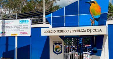 Entrada del Colegio República de Cuba en Managua