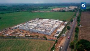 Hospital Departamental de Chinandega, la mega construcción de este moderno hospital de 2 plantas, tiene una longitud de 34 mil metros cuadrados.